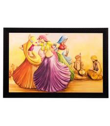 Dancing Village Women Matt Textured UV Art Painting