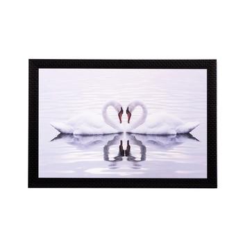 Loving Swans Matt Textured UV Art Painting