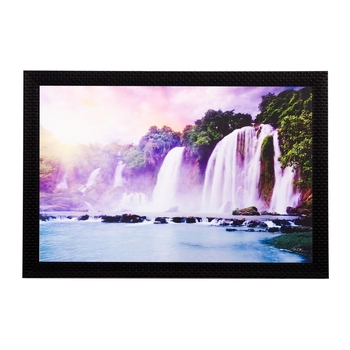Wonderful Waterfall View Matt Textured UV Art Painting