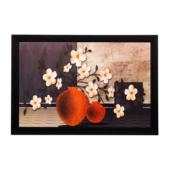 Botanical Off White Flower Matt Textured UV Art Painting