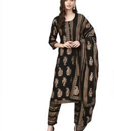 Black printed rayon salwar