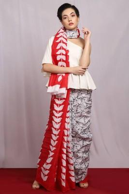 multicolor Floral Ecstasy Cotton Saree with blouse