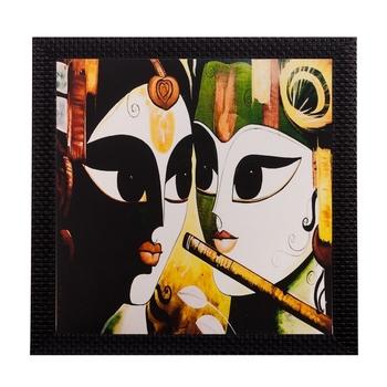 Radha Krishna Matt Textured UV Art Painting