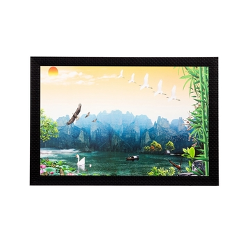 Scenic Water View Matt Textured UV Art Painting
