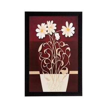 Botanical Pot and Flower Matt Textured UV Art Painting