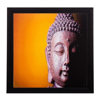 Meditating Buddha Matt Textured UV Art Painting