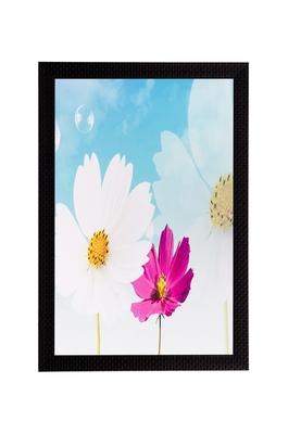 Pink & White Flower Matt Textured UV Art Painting