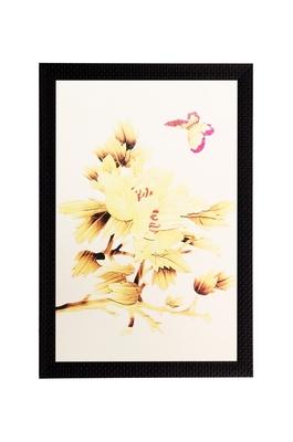 Yellow Dry Leaves Matt Textured UV Art Painting