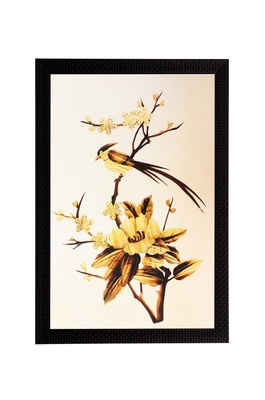 Golden Flower Matt Textured UV Art Painting