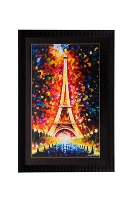 Beautiful Eiffel Tower Matt Textured UV Art Painting