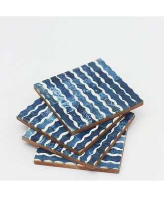Playful Resin Coasters Wooden Coaster