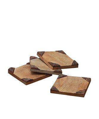 Bark Edge Wooden Coasters