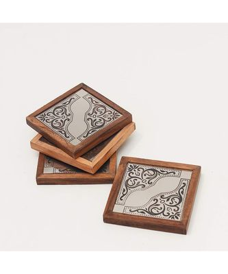 Angelic Design Metal Coasters Wooden