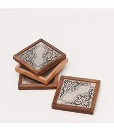 Angelic Design Metal Coasters Wooden