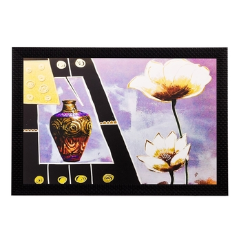 Vase and Flowers Matt Textured UV Art Painting