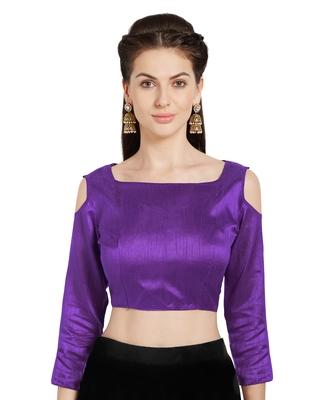 Purple Art Silk Readymade PartywearSaree Blouse