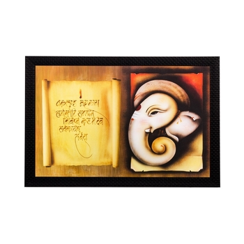 Lord Ganesha Matt Textured UV Art Painting