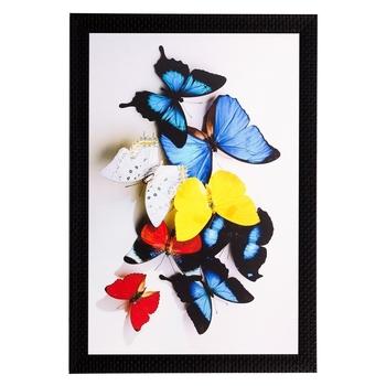 Colorful Butterflies Matt Textured UV Art Painting
