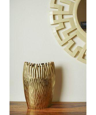 Golden Schizo Flower Vase