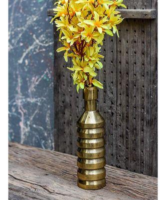 Golden Steampunk Flower Vase