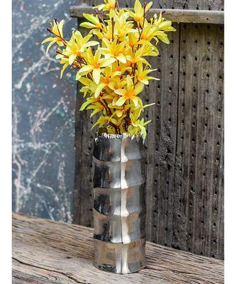 Pewter Flower Silver Vase