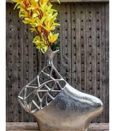 Elements Embossed Aluminium Vase