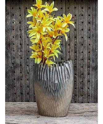 Aluminium Schizo Silver Flower Vase