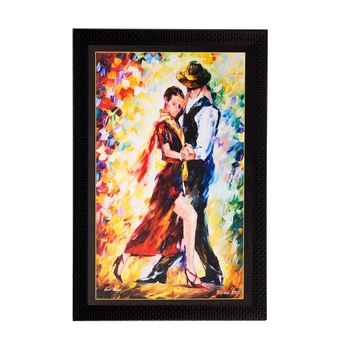 Dancing Couple Matt Textured UV Art Painting