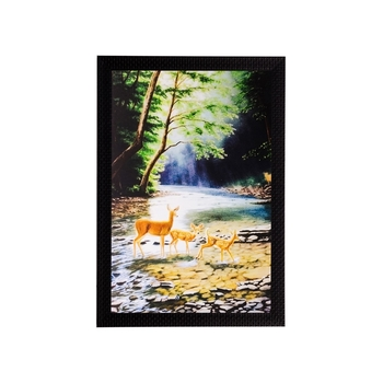 Colorful Animals in Water Matt Textured UV Art Painting