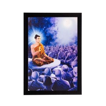 Enlighening Lord Buddha Matt Textured UV Art Painting
