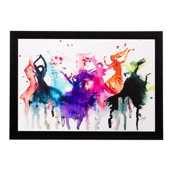 Abstract Colorful Women Matt Textured UV Art Painting
