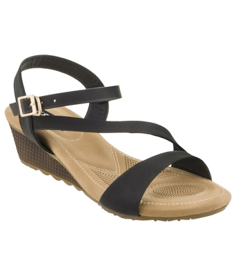 SHERRIF SHOES ANKLE-STRAP WEDGE
