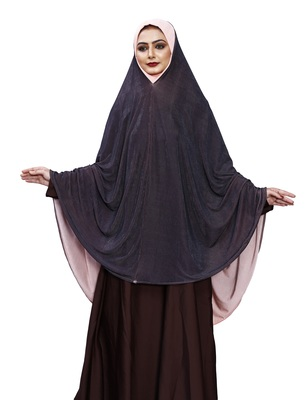 Justkartit Purple Color Instant Islamic Wear Women Prayer Hijab Abaya