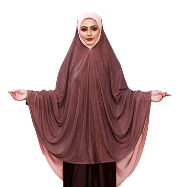 Justkartit Brown Shade Women Prayer Wear Islamic Hijab Abaya