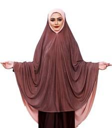 Justkartit Brown Shade Women Prayer Wear Islamic Hijab Abaya