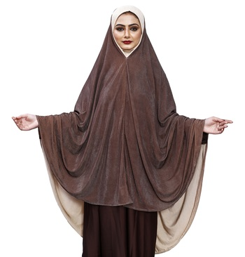 Justkartit Brown Color Instant Ready To Wear Women Abaya Makhna Scarf