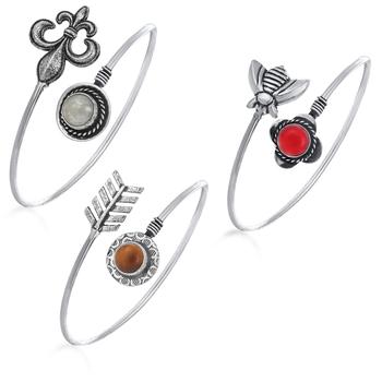 Multicolor diamond bracelets