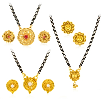 Yellow pearl mangalsutra