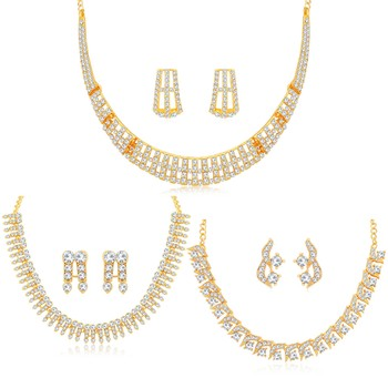 Yellow diamond necklace-sets