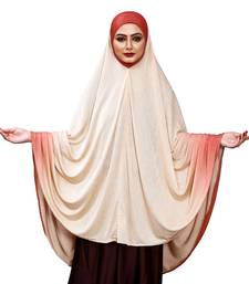 Justkartit Women'S Long Ready To Wear 2 Shade Islamic Wear Prayer Chaderi Hijab