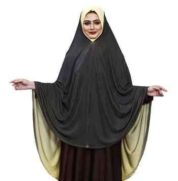 Justkartit 2 Shade Islamic Ready To Wear Long Chaderi Makhna Hijab For Women