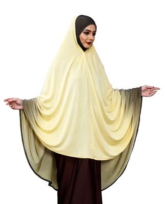 Justkartit Islamic 2 Shade Instant Long Prayer Chaderi Hijab For Women