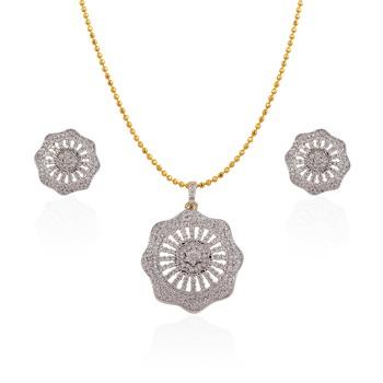 Heena Elegant Floral Pendent set >> HJPN129 <<