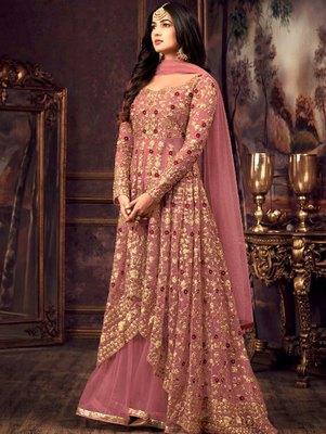 Pink Color Party Wear Designer Anarkali Suit