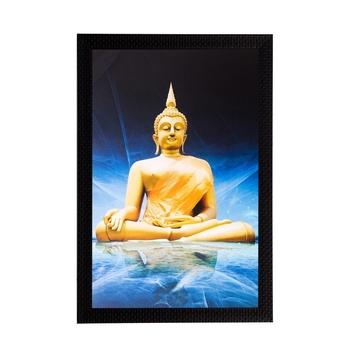 Meditating Lord Buddha Matt Textured UV Art Painting