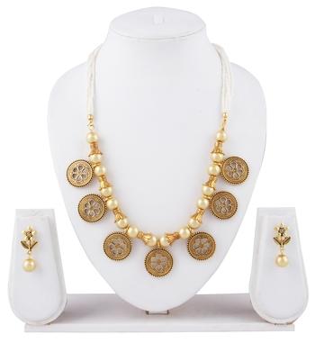 Gold pearl navratri-jewellery