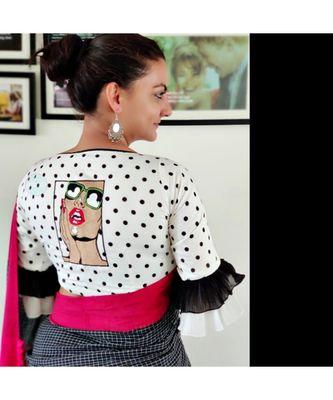 RETRO cotton blouse