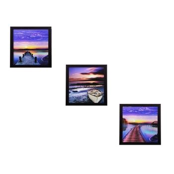 Set of 3 Satin Matt Textured Art Painting