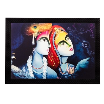 Radha Krishna Still Matt Textured UV Art Painting