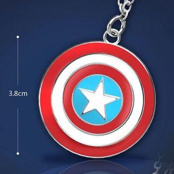 Captain America Steve Rogers Super Hero Shield Avengers Red Blue Pendant Necklace Chain for Men